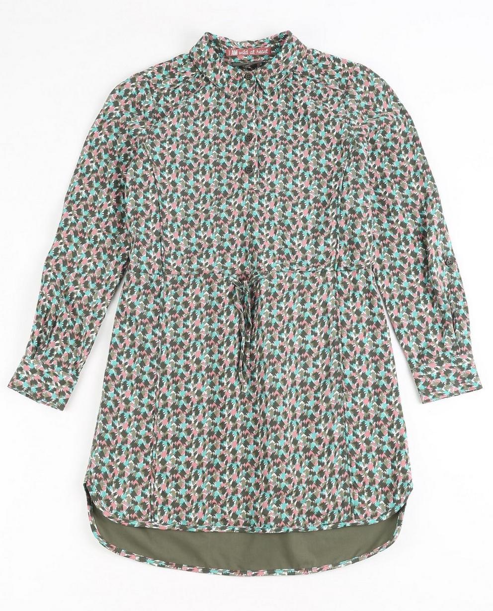 Kleid mit Allover-Print - I AM - I AM